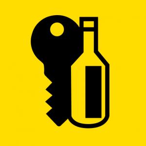 żółto czarny favicona klucza i butelki Alcolock